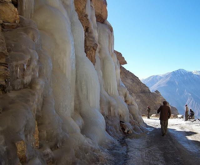 Frozen Raods during winters